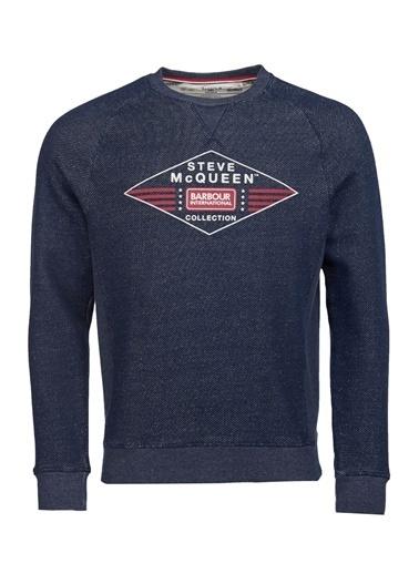 Barbour Barbour Mol0250722 Ny91 Navy Application Erkek Sweatshirt Lacivert